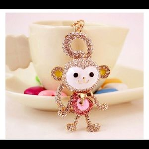 Crystal Monkey Necklace